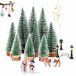 WELLXUNK® Weihnachtsbaum,Mini Weihnachts Baum,Christmasbaum Mini Grün,Weihnachtsbaum Miniatur,Künstlicher Weihnachtsbaum,Weihnachts Baum klein,Künstlich Klein Weihnachtsdeko - 1