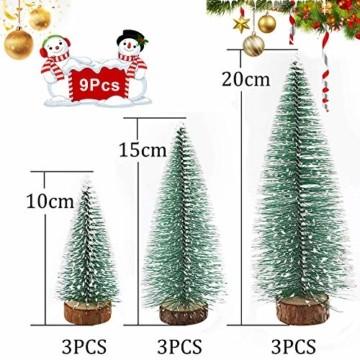 WELLXUNK® Weihnachtsbaum,Mini Weihnachts Baum,Christmasbaum Mini Grün,Weihnachtsbaum Miniatur,Künstlicher Weihnachtsbaum,Weihnachts Baum klein,Künstlich Klein Weihnachtsdeko - 4