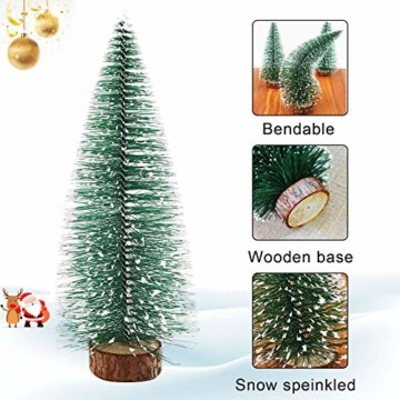 WELLXUNK® Weihnachtsbaum,Mini Weihnachts Baum,Christmasbaum Mini Grün,Weihnachtsbaum Miniatur,Künstlicher Weihnachtsbaum,Weihnachts Baum klein,Künstlich Klein Weihnachtsdeko - 5