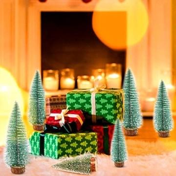 WELLXUNK® Weihnachtsbaum,Mini Weihnachts Baum,Christmasbaum Mini Grün,Weihnachtsbaum Miniatur,Künstlicher Weihnachtsbaum,Weihnachts Baum klein,Künstlich Klein Weihnachtsdeko - 7