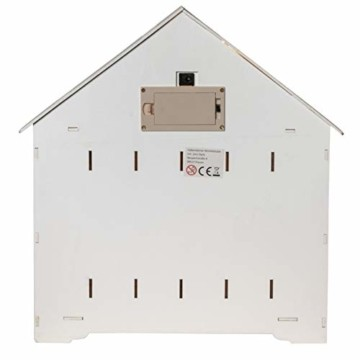 Wichtelstube-Kollektion Adventskalender zum befüllen, Winterdorf weiß XL Fächer, Weihnachtsdeko Holz beleuchtet - 3
