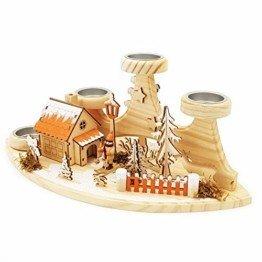 Wichtelstube-Kollektion Teelichthalter mit Räucherhaus Waldhütte Original - 1
