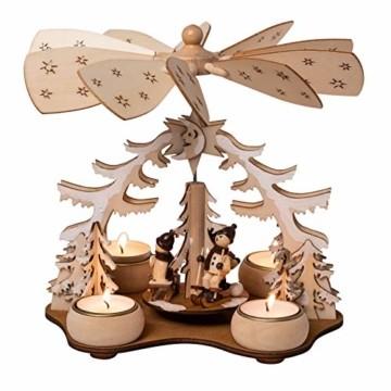 Wichtelstube-Kollektion Weihnachtspyramide f. Teelicht Winterkinder, 22cm Pyramide Weihnachten - 2