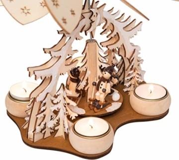 Wichtelstube-Kollektion Weihnachtspyramide f. Teelicht Winterkinder, 22cm Pyramide Weihnachten - 3