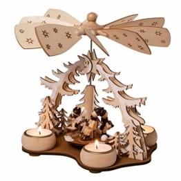 Wichtelstube-Kollektion Weihnachtspyramide f. Teelicht Winterkinder, 22cm Pyramide Weihnachten - 1