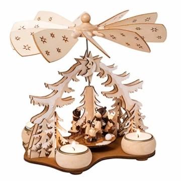 Wichtelstube-Kollektion Weihnachtspyramide f. Teelicht Winterkinder, 22cm Pyramide Weihnachten - 5