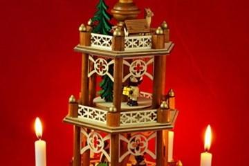 Wichtelstube-Kollektion XL Weihnachtspyramide Winterkinder Original 3 Etagen - 2