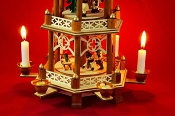 Wichtelstube-Kollektion XL Weihnachtspyramide Winterkinder Original 3 Etagen - 5