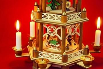 Wichtelstube-Kollektion XL Weihnachtspyramide Winterkinder Original 3 Etagen - 6