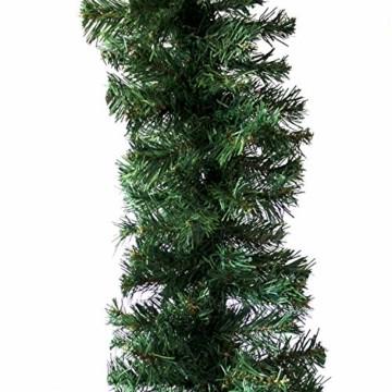 Wohaga Extra dichte Weihnachtsgirlande künstliche Tannengirlande, 270cm, 300 Spitzen, In- / Outdoor - 3