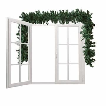 Wohaga Extra dichte Weihnachtsgirlande künstliche Tannengirlande, 270cm, 300 Spitzen, In- / Outdoor - 4
