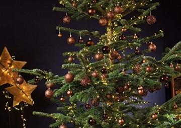 WOMA Christbaumkugeln Set in 14 weihnachtlichen Farben - 50 & 100 Weihnachtskugeln Braun Kupfer aus Kunststoff - Gold, Silber, Rot & Bronze/Kupfer UVM. - Weihnachtsbaum Deko & Christbaumschmuck - 3