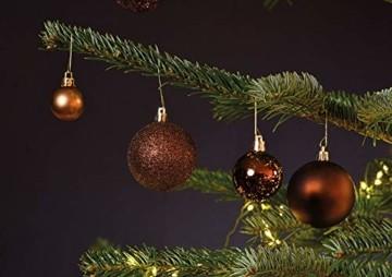 WOMA Christbaumkugeln Set in 14 weihnachtlichen Farben - 50 & 100 Weihnachtskugeln Braun Kupfer aus Kunststoff - Gold, Silber, Rot & Bronze/Kupfer UVM. - Weihnachtsbaum Deko & Christbaumschmuck - 6