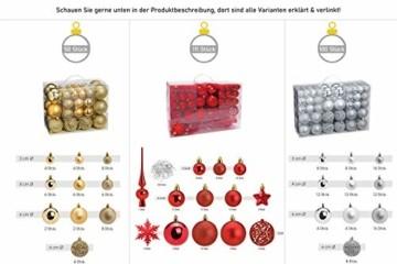WOMA Christbaumkugeln Set in 14 weihnachtlichen Farben - 50 & 100 Weihnachtskugeln Türkis Blau aus Kunststoff - Gold, Silber, Rot & Bronze/Kupfer UVM. - Weihnachtsbaum Deko & Christbaumschmuck - 3