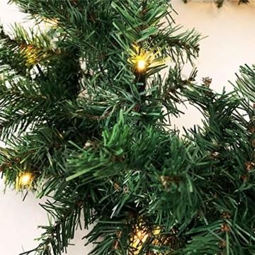 XL Weihnachtsbeleuchtung Girlande beleuchtet Tannengirlande 70 LED Lichterkette 540 cm Weihnachten innen und außen - 3