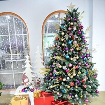 YILEEY Weihnachtskugeln Weihnachtsdeko Set Gold 24 STK in 4 Farben, Kunststoff Weihnachtsbaumkugeln Box mit Aufhänger Christbaumkugeln Plastik Bruchsicher, Weihnachtsbaumschmuck, MEHRWEG - 2