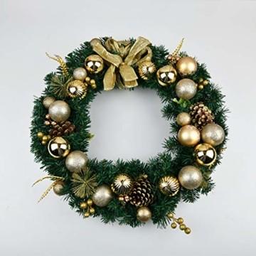 YILEEY Weihnachtskugeln Weihnachtsdeko Set Gold 24 STK in 4 Farben, Kunststoff Weihnachtsbaumkugeln Box mit Aufhänger Christbaumkugeln Plastik Bruchsicher, Weihnachtsbaumschmuck, MEHRWEG - 4