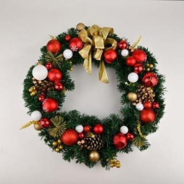 YILEEY Weihnachtskugeln Weihnachtsdeko Set Weiß und Rot 108 STK in 14 Farben, Kunststoff Weihnachtsbaumkugeln Box mit Aufhänger Christbaumkugeln Plastik Bruchsicher, Weihnachtsbaumschmuck, MEHRWEG - 3