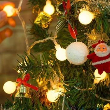 Yinuo Candle Kugel Lichterketten,15M LED Lichtkette mit Speicherfunktion,Weihnachtslicht Außen/Innen mit Stecker,ideale Partydekoration,Kinderzimmer,Balkone,Weihnachtslichter etc.(warmweiß) - 2
