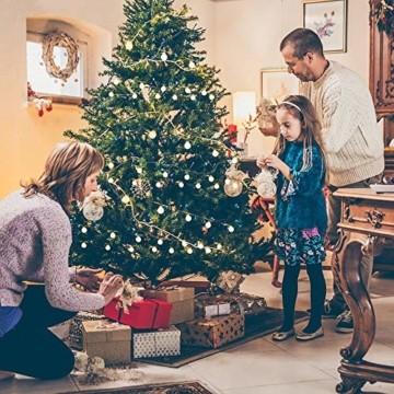 Yinuo Candle Kugel Lichterketten,15M LED Lichtkette mit Speicherfunktion,Weihnachtslicht Außen/Innen mit Stecker,ideale Partydekoration,Kinderzimmer,Balkone,Weihnachtslichter etc.(warmweiß) - 4