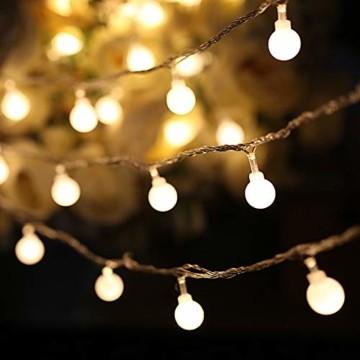 Yinuo Candle Kugel Lichterketten,15M LED Lichtkette mit Speicherfunktion,Weihnachtslicht Außen/Innen mit Stecker,ideale Partydekoration,Kinderzimmer,Balkone,Weihnachtslichter etc.(warmweiß) - 1