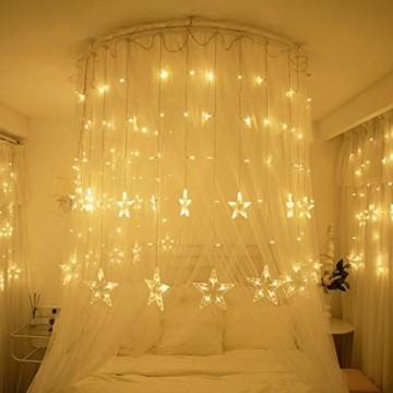 YQHbe Led Sterne Lichterkette, 12 Sterne Lichtervorhang Fenster Weihnachten Warmweiß Fensterbeleuchtung Weihnachtsdeko Mit Weihnachtsbeleuchtung Fensterdeko FüR Innen - 6