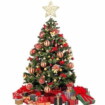 YQing 11.7 Zoll Weihnachten Baumspitze Stern, Christbaumspitze Glitzernden Baumspitze LED Stern Deko Weihnachten Baumkrone Tree Topper für Weihnachtsbaum Dekoration oder Wohnkultur - 3