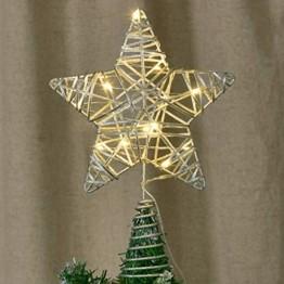 YQing 11.7 Zoll Weihnachten Baumspitze Stern, Christbaumspitze Glitzernden Baumspitze LED Stern Deko Weihnachten Baumkrone Tree Topper für Weihnachtsbaum Dekoration oder Wohnkultur - 1