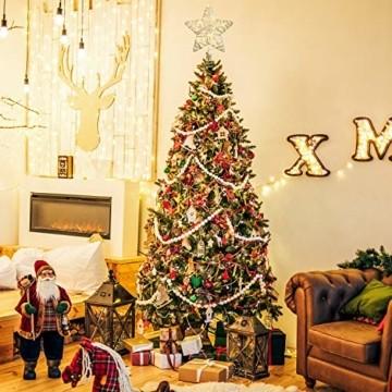 YQing 11.7 Zoll Weihnachten Baumspitze Stern, Christbaumspitze Glitzernden Baumspitze LED Stern Deko Weihnachten Baumkrone Tree Topper für Weihnachtsbaum Dekoration oder Wohnkultur - 5