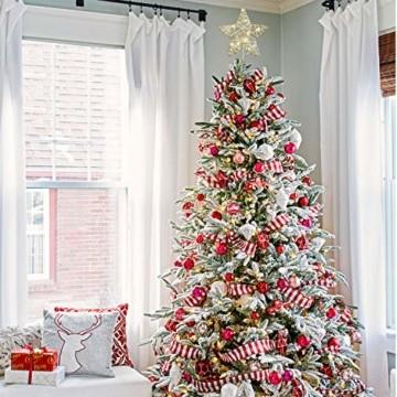 YQing 11.7 Zoll Weihnachten Baumspitze Stern, Christbaumspitze Glitzernden Baumspitze LED Stern Deko Weihnachten Baumkrone Tree Topper für Weihnachtsbaum Dekoration oder Wohnkultur - 6