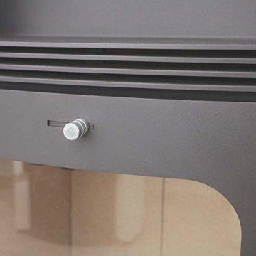 Dauerbrand Kamin-Ofen Caminos Prestige 2.0 guss-grau Speicher-Stein für Scheite Press-Holz Briketts Anthrazit und Braun-Kohle 7kw modern mit Abbrand-Automatik - 4