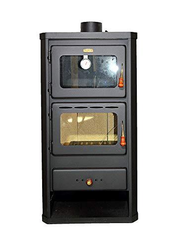 Holzofen mit Ofen aus Stahl 12 kW Heizleistung - 1