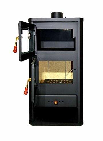 Holzofen mit Ofen aus Stahl 12 kW Heizleistung - 2