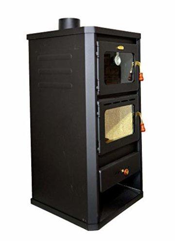 Holzofen mit Ofen aus Stahl 12 kW Heizleistung - 3