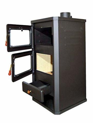 Holzofen mit Ofen aus Stahl 12 kW Heizleistung - 5