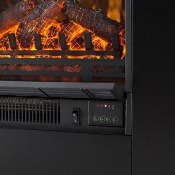 Klarstein Studio 5 - Elektrischer Kamin, Heizlüfter, Flammeneffekt, Wochentimer, stimmungsvolle Beleuchtung und/oder Wärmequelle, 900/1800 Watt Heizfunktion, 4 Watt LED, sauber, schwarz - 4