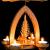 1-stöckige Weihnachtspyramide Rehe - Natur - 26 cm - 100% Erzgebirge Pyramide - 4
