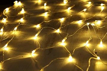 100/160/240/320er LED Lichternetz Lichtervorhang Lichterkette Warmweiß Deko Leuchte Innen und Außen Weihnachten Hochzeit mit Stecker gresonic (100LED, Dauerlicht) - 5