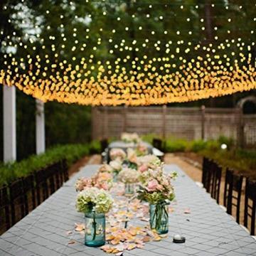 100/160er LED Lichternetz Lichtervorhang Lichterkette Warmweiß Deko Leuchte Innen und Außen Weihnachten Hochzeit mit Stecker gresonic (Dauerlicht, 160LED) - 6
