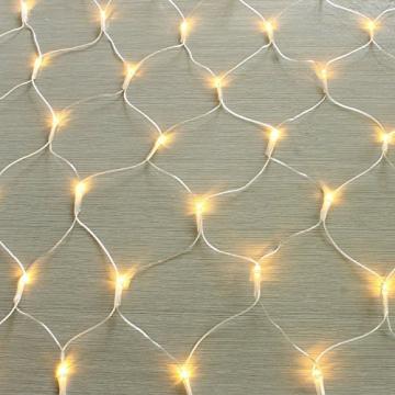 100/160er LED Lichternetz Lichtervorhang Lichterkette Warmweiß Deko Leuchte Innen und Außen Weihnachten Hochzeit mit Stecker gresonic (Dauerlicht, 160LED) - 9