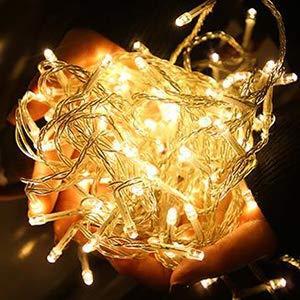 100er LED Outdoor Lichterkette Batterienbetrieben mit Timer Warmweiß deal für CHRISTMAS, Festlich, Hochzeiten, Geburtstag, PARTY, NEW YEAR Dekoration, HÄUSER ETC (8 Modi, Außenbeleuchtung) (2*100er) - 4