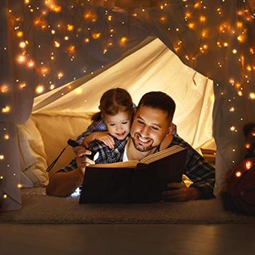 12M Led Lichterkette OMERIL 120er USB Lichterkette Draht Wasserdicht mit Schalter, Stimmungslichter Lichterkette für Zimmer, Innen, Weihnachten, Kinderzimmer, Außen, Party, Hochzeit, DIY usw. Warmweiß - 3