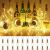 (20 Stück) Flaschen licht, BACKTURE 2M 20 LEDs Flaschenlicht Glas Korken Licht Kupferdraht für flasche für Party, Garten, Weihnachten, Halloween, Hochzeit, außen/innen Beleuchtung Deko (Warmweiß) - 1