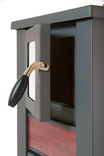 acerto 20119 LAVA Kaminofen Ceramic rot mit Sichtfenster, 35x44x82 cm – Kompakter Premium Holzofen für kleine Räume mit 8,5kW Heizleistung - 2