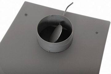 acerto 20119 LAVA Kaminofen Ceramic rot mit Sichtfenster, 35x44x82 cm – Kompakter Premium Holzofen für kleine Räume mit 8,5kW Heizleistung - 3