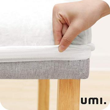 Amazon Brand – Umi 2 Stück Stuhlhussen Elastisch Stuhlbezug 46x46x60 cm Weiß - 4