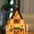 Brubaker Weihnachtspyramide Adventshaus 49 cm - Weihnachtskrippe auf 4 Etagen - Kerzenpyramide mit 4 Kerzenhaltern aus Metall - Holz Natur - handbemalte Figuren - 2