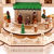 Brubaker Weihnachtspyramide Adventshaus 49 cm - Weihnachtskrippe auf 4 Etagen - Kerzenpyramide mit 4 Kerzenhaltern aus Metall - Holz Natur - handbemalte Figuren - 3