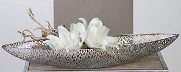 Casablanca - Schale/Dekoschale - Purley - Metall - antik-Silber - 60 x 16 x 7 cm - 3