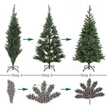 Casaria Weihnachtsbaum 140 cm LED Lichterkette Edeltanne Ständer künstlicher Tannenbaum Christbaum Weihnachten PE Grün - 5